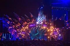 POLEN, KRAKAU - JANUARI 01, 2015: Het vieren van het Nieuwjaar 2015 Stock Fotografie