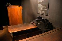 POLEN KRAKOW - MAJ 27, 2016: Utställning på temat av livKrakow judar under det andra världskriget Royaltyfri Bild