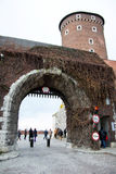 Polen krakow, slott Arkivfoton