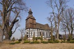 Polen (Lager Silesië) - landkerk Stock Afbeeldingen