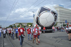 Polen lockert EURO 2012 auf Stockfotos