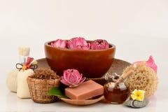 Polen Lotus, Lotus Flower y jabón, flor hecha a mano del balneario de los jabones de Tailandia foto de archivo libre de regalías