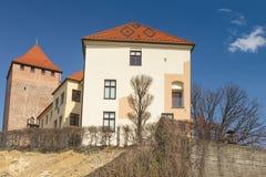 Polen, Malopolska, Oswiecim, Piast-Kasteel stock afbeeldingen