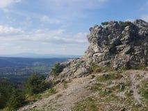 Polen, Malopolska, Tatra-bergen - de oogst van Wielki Kopieniec stock afbeeldingen