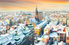 polen Mening van Wroclaw stock foto's
