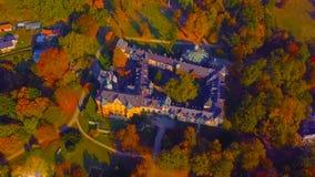 polen Middeleeuws Kasteel in Niedzica, de 15de eeuw hoger kasteel, Pools of Hongaar in het verleden het Kunstmatige Czorsztyn-Mee royalty-vrije stock foto's