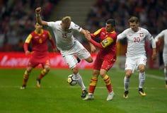 Polen - Montenegro Russland 2018 Qualifikationen Lizenzfreie Stockfotografie