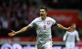 Polen - Montenegro Russland 2018 Qualifikationen Stockfoto