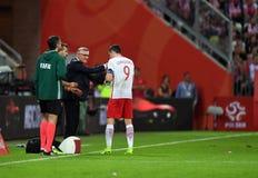 Polen - Netherland vänskapsmatch Royaltyfri Bild