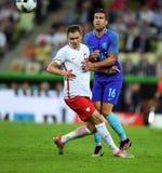 Polen - Netherland vänskapsmatch Royaltyfri Foto