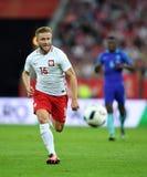 Polen - Netherland vänskapsmatch Arkivfoton