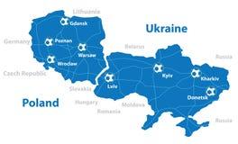Polen och Ukraina Fotografering för Bildbyråer
