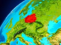 Polen på jord från utrymme Royaltyfri Fotografi