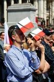 Polen rouwt. Stock Fotografie