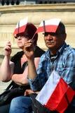Polen rouwt. Stock Foto's