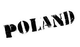 Polen rubber stämpel royaltyfri bild