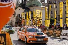 Polen-Rundfahrt 2014, Teamservice Lizenzfreie Stockbilder