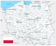 Polen-Sonderkommando-Karten-weiße Farbe lizenzfreie abbildung