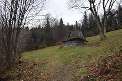 Polen, Szczyrk, plattelandshuisje Stock Foto's