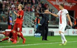 Polen - Tschechische Republik-Freundschaftsspiel Stockbild