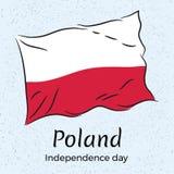 polen Unabhängigkeit Day Vektorillustration der Flagge von Polen Lizenzfreie Stockfotos