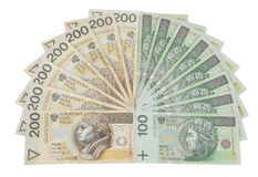 Polen valuta Arkivfoto