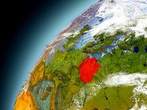 Polen von der Bahn von vorbildlichem Earth Lizenzfreie Stockfotografie