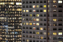Polen, Warshau 's nachts, stad. Royalty-vrije Stock Foto