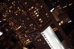 Polen, Warshau 's nachts, stad. Royalty-vrije Stock Afbeelding