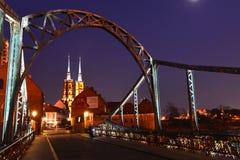 Polen Wroclaw, Ostrow Tumski Royaltyfria Foton