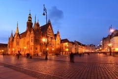 Polen, Wroclaw, Oude Markt Stock Foto's