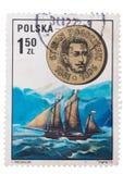 Polen -1861-1896: Zegels, verbindingen Het snelle overzees Stefan Rogozins Stock Fotografie