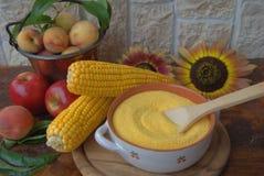 polenta συστατικών Στοκ φωτογραφία με δικαίωμα ελεύθερης χρήσης