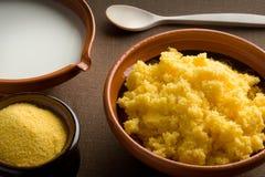 polenta молока Стоковая Фотография