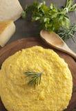 polenta тарелки итальянский традиционный Стоковое Фото