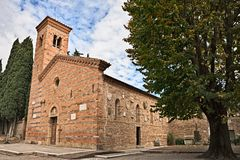 Polenta Bertinoro, FC, Emilia-Romagna, Italië: middeleeuwse chu Royalty-vrije Stock Afbeelding