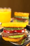 Polenta Burger Royalty Free Stock Photos