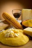 Polenta and  cheese Stock Photos