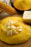 Polenta and  cheese Stock Photo