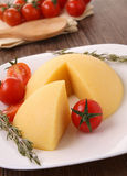 Polenta and cherry tomato Stock Photography