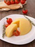 Polenta and cherry tomato Stock Image