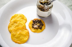 Polenta chips Royalty Free Stock Image