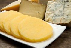 Polenta com queijo Imagens de Stock