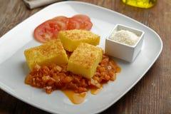 Polenta com vegetais Imagens de Stock Royalty Free