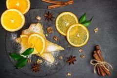 Polenta, corn and lemon butter cake Stock Photos