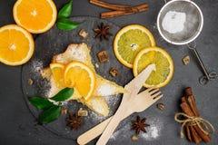 Polenta, corn and lemon butter cake Royalty Free Stock Photo