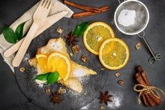 Polenta, corn and lemon butter cake Stock Image