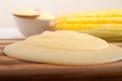 Polenta corn mais flour cream Stock Photos