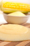 Polenta corn maize flour cream Royalty Free Stock Images