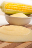 Polenta corn maize flour cream Royalty Free Stock Photos